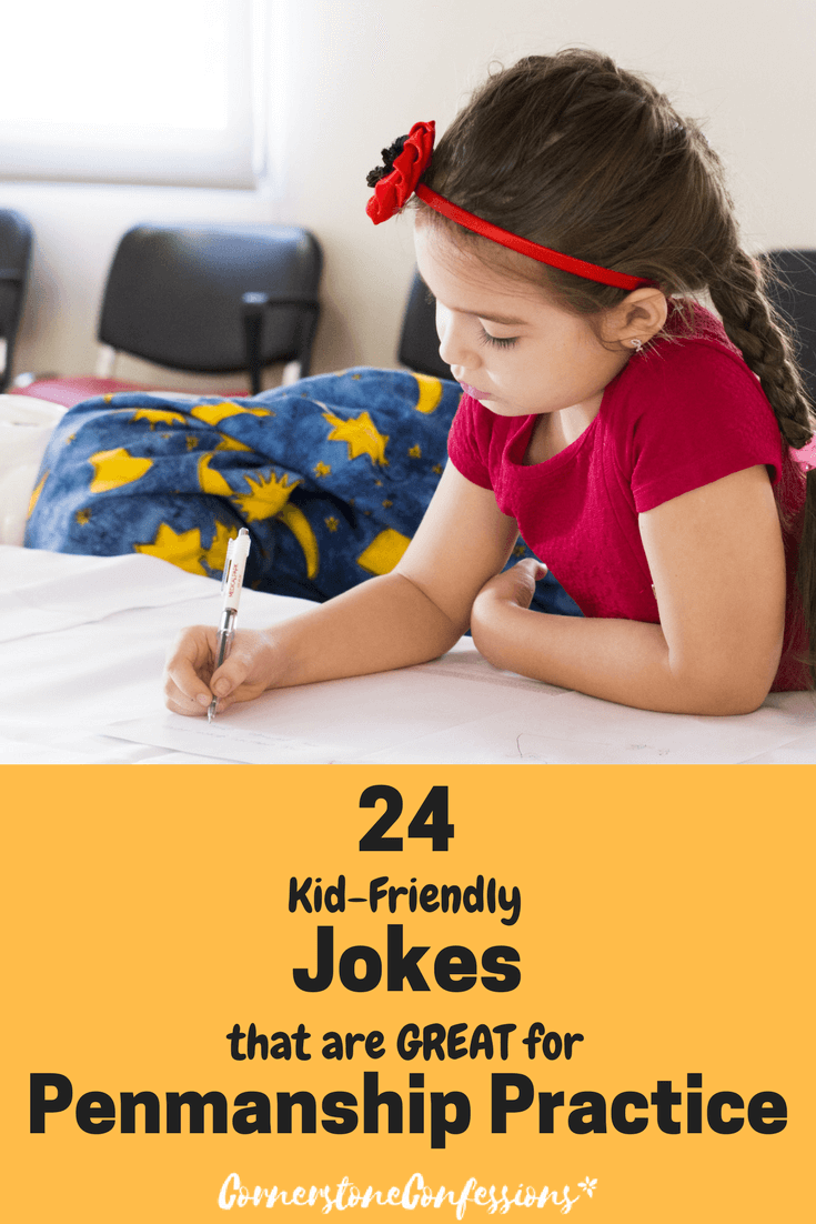 24 Kid Friendly Jokes that are GREAT for Penmanship Practice
