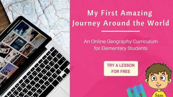 My First Amazing Journey Around the World:  An Online Geography Course for Elementary Students