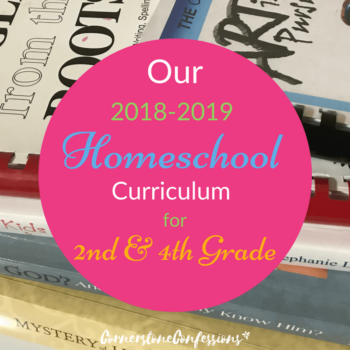 Our 2018-2019 Homeschool Curriculum Plan for 2nd and 4th Grade
