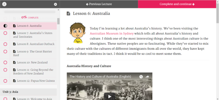 Australia preview for My First Amazing Journey Around the World Curriculum
