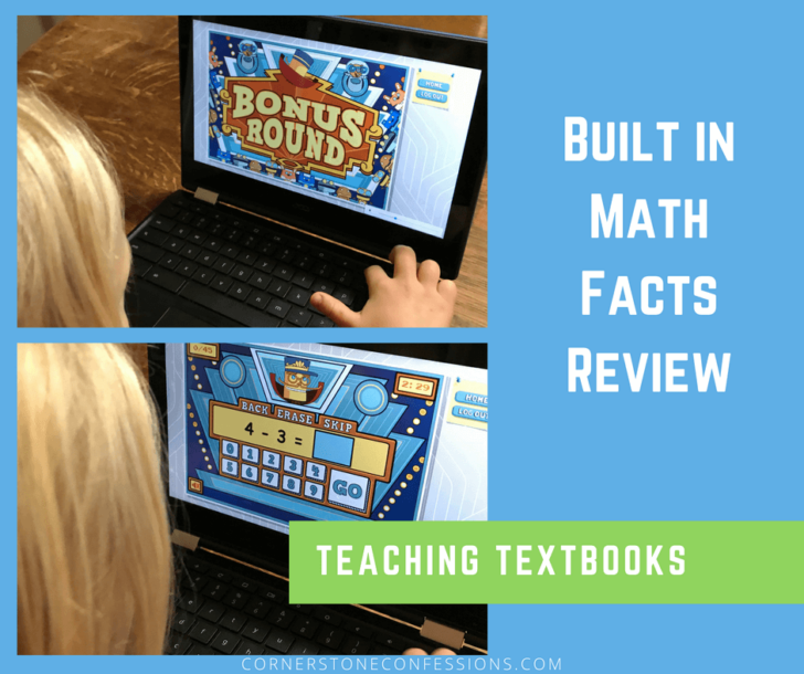 Teaching Textbooks 3.0 Bonus Round for Math Facts Review