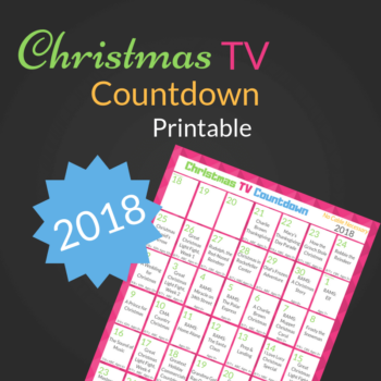 2018 Christmas TV Countdown Calendar