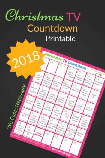 2018 Christmas TV Program Calendar for Non-Cable Watchers